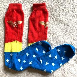 Wonder Woman socks USA America knee-high